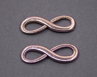 2 pcs Rose Gold Plated Infinity Charms | Infinity Pendant, Infinity Connector, Rose Gold Infinity Charms, Rose Gold Infinity Pendant