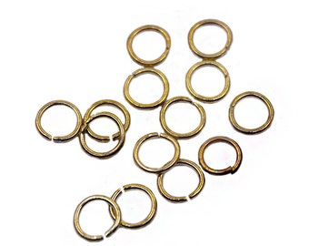 500 pcs 6mm Gold Jump Ring | Gold Jump Ring, 6mm Gold Jumpring, 6mm Jump Ring, Open Jump Ring, Brass Jump Ring