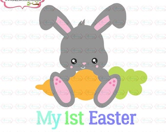 My first easter  SVG, DXF, EPS cut file Easter Svg bunny svg rabbit svg