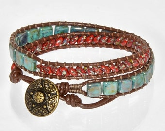 Chan Luu Wrap Bracelet Leather Bracelet for Women Beaded Wrap Bracelet