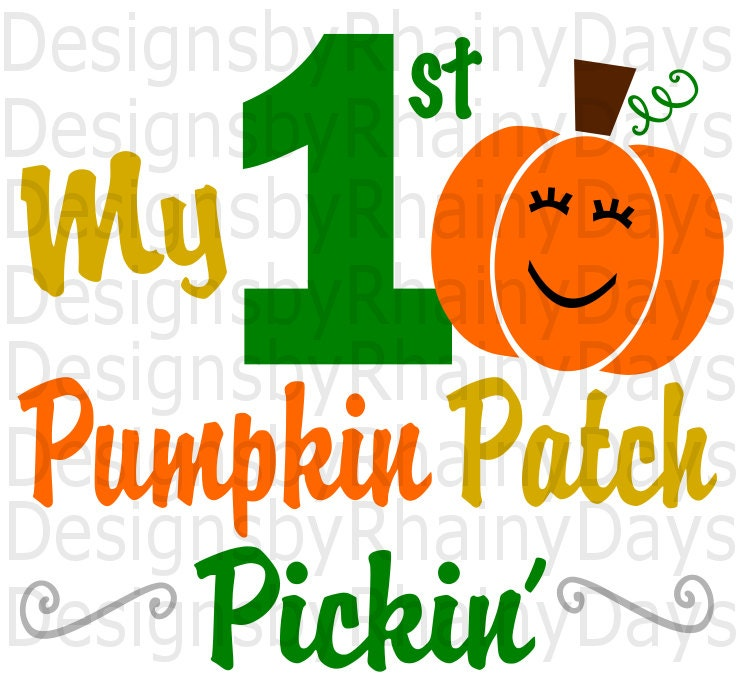 Buy 3 get 1 Free! My first pumpkin patch pickin' cutting file, SVG, DXF, png, fall, pumpkin, pumpkin patch girl, cute, design