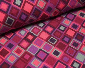 Cotton Jersey diamond pink Berry grey