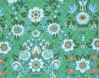 SALE Amy Butler Fabric - Violette Garden Fete in Minty Fabric - Green Fall Fabric - Clearance Fabric by the Yard - Quilt Boutique Clothing