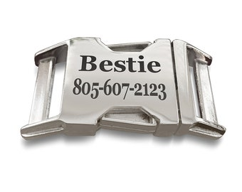 Personalized Dog Collar Buckle, Laser engraved Buckle