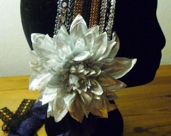 Flowers silver tiara