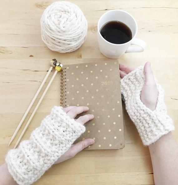 Knitting Diy Kits : Diy knitting kit fingerless glove wrist warmers includes