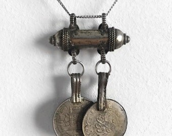 VINTAGE pendant with coins