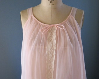 Pink Babydoll Lingerie / Vintage Nightgown