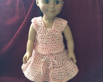 """18"""" Doll Tanktop and Skirt Outfit"""