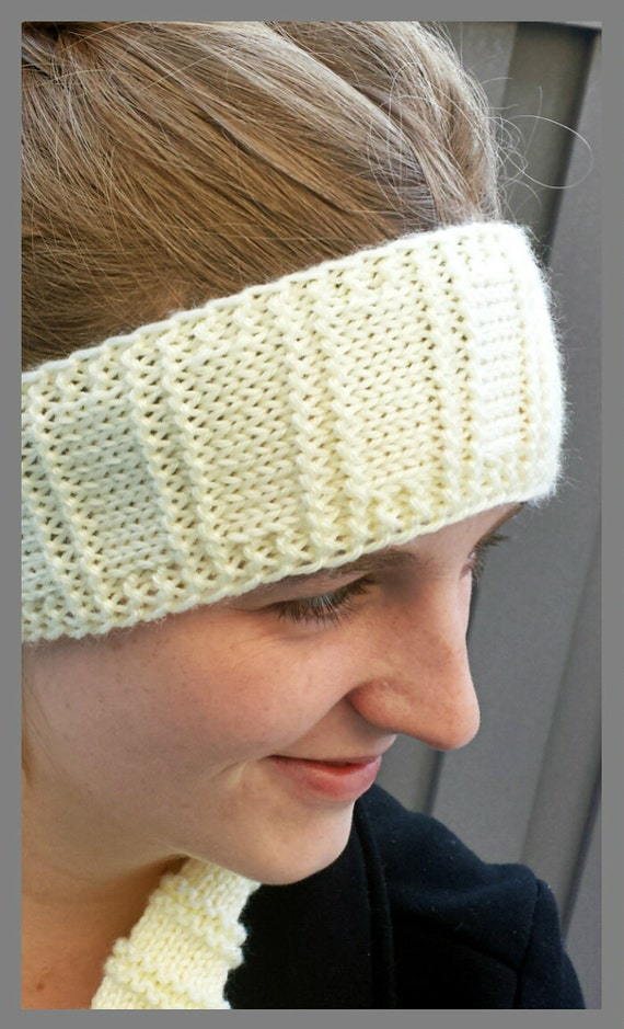 Loom Knitting Pattern Headband : LOOM KNITTING PATTERNS K.I.S.S. Headband Ear Warmer in