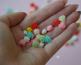 tiny flower cabochons