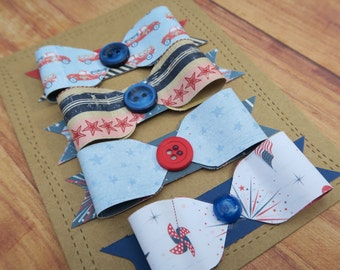 4th of July Handmade Bow Embellishments