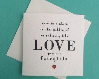 Valentine's 'Love gives us a faiytale' Mini Greeting Card