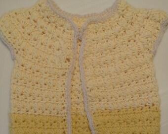 Girls (12-18 Month) Cardigan - Yellow