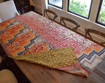 Vintage Indian Hand-Made Afghan/Blanket