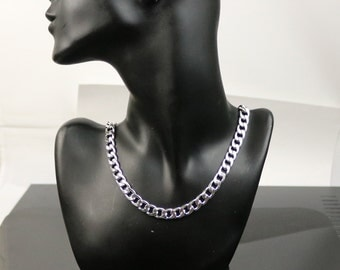 stainless steel menu0027s chunky cuban curb chain necklace 22 inch 55 cm 8mm