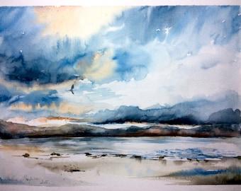 "Original Watercolour ""after the storm"""