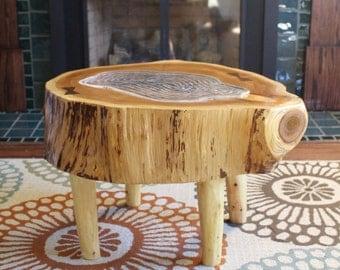 Cedar Log Coffee Table