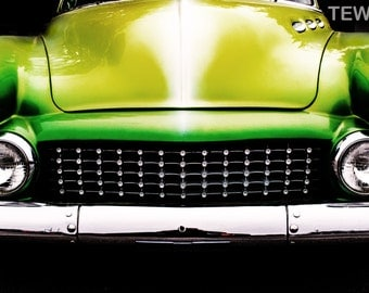 Green Machine sites on South Congress Ave. in Austin Texas. SoCo, Old Car, Green, Texas Photographer