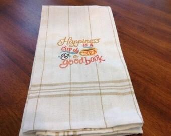 Kitchen towel with Machine Embroidered Design