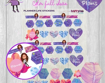 Planner Life Stickers Printable Planner Life Stickers Planner Stickers Life Printable Life Stickers Printable Planner Notes Erin Condren