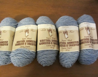 Super Wool by Lady Fair (Eaton's) - 100% wool - blue - 5 balls available