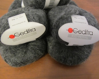 Kid Royal Gedifra in Gray with Superkid Mohair & wool - made in Italy -  plus pattern available