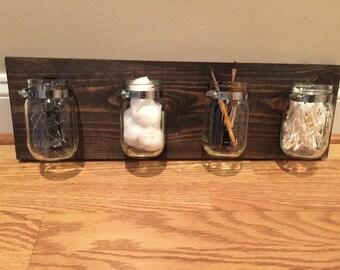 Mason jar bathroom cady