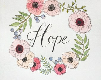 Hope   watercolor and ink illustration