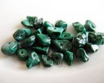 Green chip beads