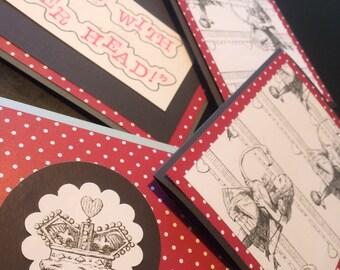 Alice in Wonderland, Mix + Match Cards, Set of 4