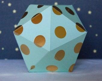 DOTS#01 - Christmas ball - Mint and golden dots