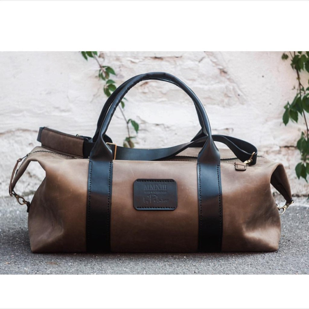 Large weekend bag leather duffle bag duffel bag travel