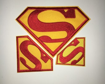 Superman Mark patches Cartoon patches Clothes decorative Embroidered patch Cartoon patches iron on patch patches sew on patches