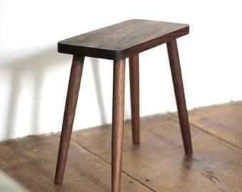 Walnut stool | Side table