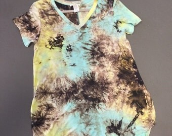 Tie Dye Short Sleeve Boutique Style Shirt