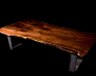 Book Matched Live Edge Black Walnut Coffee Table