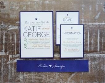Modern Wedding Invitation Deposit