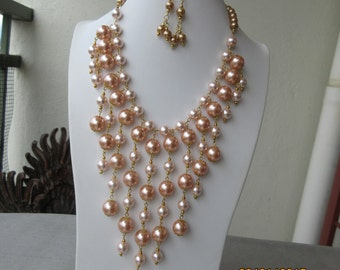 014 Champagne Bib Necklace
