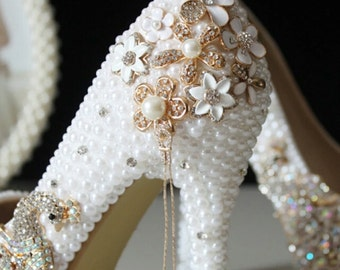 Handmade Vintage Style Bridal Shoes