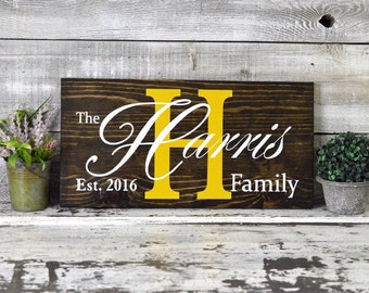 Custom Painted Wood Sign for Anniversary or Wedding Gift - 20x10 Inches