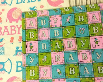 Vintage baby shower gift wrap