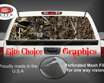 Bow Reaper Oak 2 Rear Window Graphic Tint Decal Sticker Truck SUV Van Car