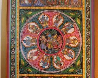 Pattachitra Radha Krishna and Vishnu Painting..Opening Sale.Deeply discounted price
