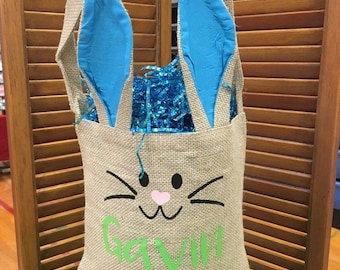 Personalized bunny baskets
