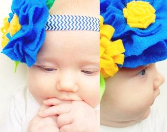 Felt flower bouquet headbands