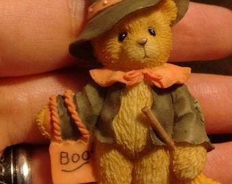 Halloween teddy bear pin