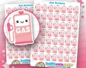 49 Cute Gas/Petrol/Fuel/Car Planner Stickers, Filofax, Erin Condren, Happy Planner,  Kawaii, Cute Sticker, UK