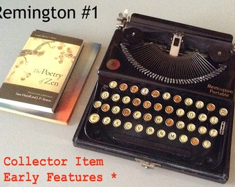 Remington Portable #1 Manual Typewriter - Early Features