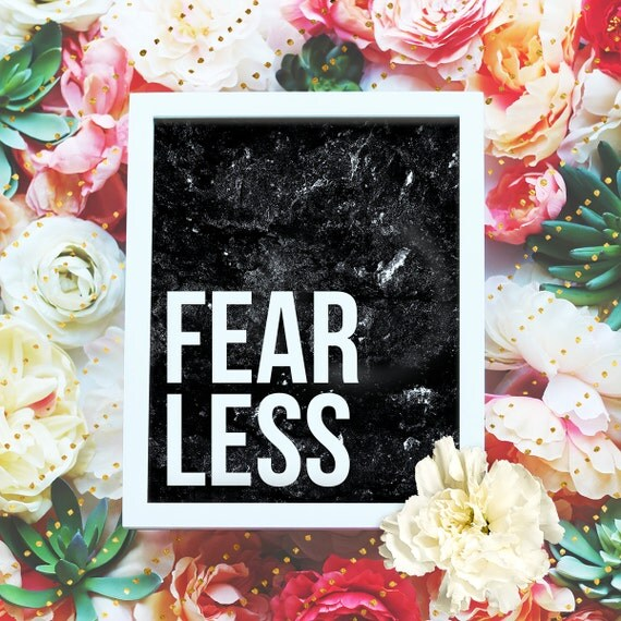 """Fearless - 8x10"""" Printable Wall Art - Motivation Print, DIY Art Print -  Typography Print - Home Decor - Instant Download"""